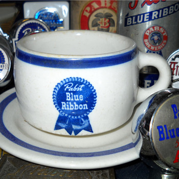 Pabst Blue Ribbon Coffee Cup - Breweriana