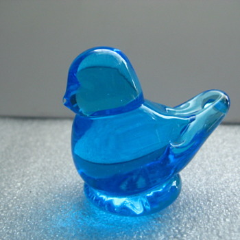 Bluebird of Happiness signed Ron Ray 1991 - Art Glass