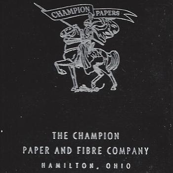 Playing Cards - Champion Paper, Hamilton Ohio, circa 1900-1950s?