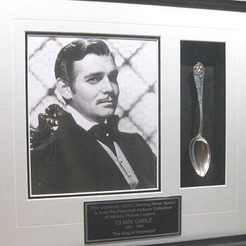 Clark Gable . . . 1800's Antique Spoon