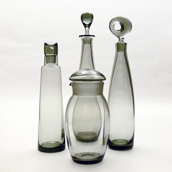 CHRISTER, TEARDROP, SKIPPER & ARISTOKRAT, Per Lütken (Holmegaard, 1950s and 1960s) - Art Glass