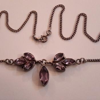 1930s  amethyst necklace  - Fine Jewelry