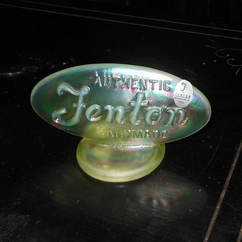 Fenton Glass Dealer Display Sign - Glassware