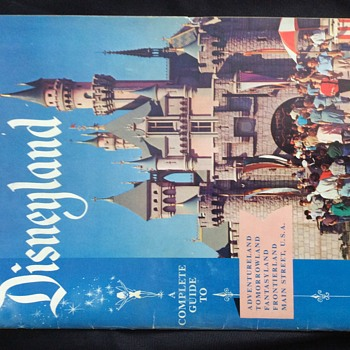1956 Disneyland guide book  coupon/ticket books - Advertising
