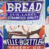 All original Early Porcelain Bread Sign ! 36 inches