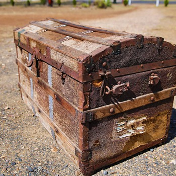 Old travel chest or trunk - Furniture