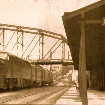 Lehigh Valley RR Station, Pittston, PA - Photographs