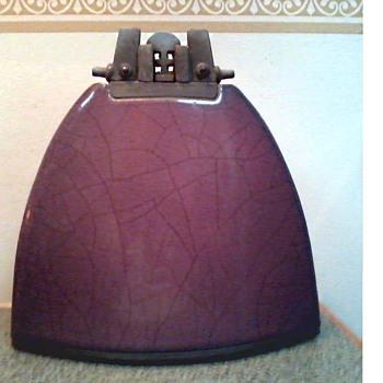 Davis Vachon Purple Raku Lunar Vessel with Stopper / Circa 1988-Present - Pottery