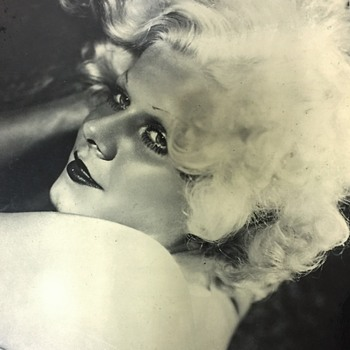 "Vintage MGM 1934 JEAN HARLOW  Actors Photograph From ""Dinner At Eight "" - Photographs"