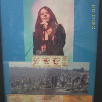 Janis Joplin Woodstock tickets