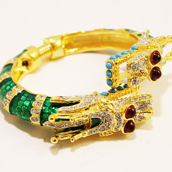 """Kenneth Jay Lane """"Year of the Dragon"""" Bangle - Costume Jewelry"""