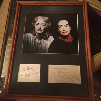 What Ever Happened To Baby Jane Autographed Photo - Movies