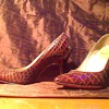 shoe - brown alligator