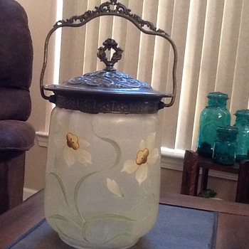 Bisquit Jar - Art Glass