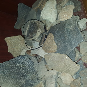Native American pottery shards collection NC  artifacts - Native American