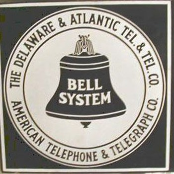 Delaware & Atlantic Tel. & Tel. Co. Porcelain Sign - Signs