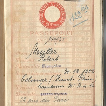 1935-39 French official passport for Syria