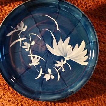 Blue and White Arita/Imari Round Plates - Asian