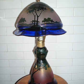 Josef Riedel scenic cameo lamps - Lamps