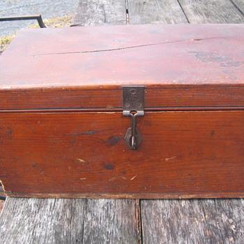 Dovetailed Wooden box Marischal Keith Statue 1869 - Furniture
