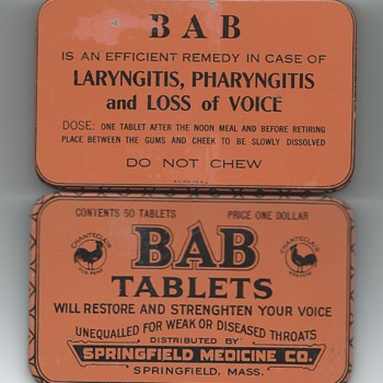 BAB tablets tin - Do Not Chew!