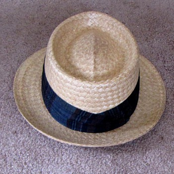 Vintage Dunlap Hat Straw Fedora - Hats