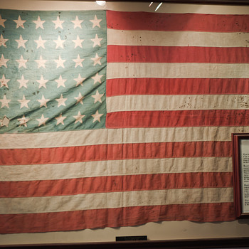 Private Dallas Claude Fleming's American Flag - Military and Wartime