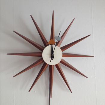 George Nelson Starburst Clock - Mid-Century Modern