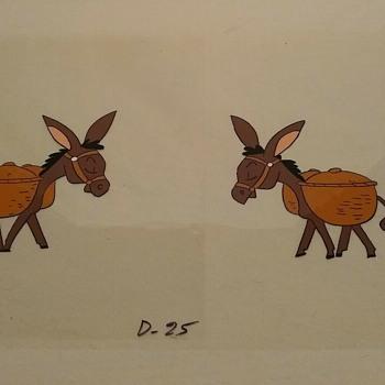 Donkeys with baskets  - Animals