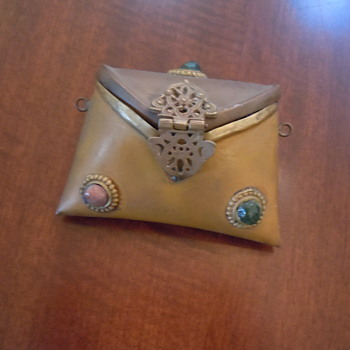 Small Brass and copper bag with stones...HELP???? - Bags