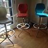 Chromcraft fiberglass stools and vintage bar