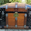 1880's Martin Maier Cross Slat Antique Trunk