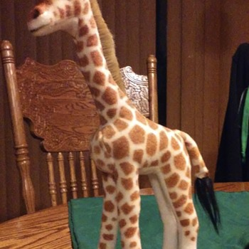 Steiff stuffed giraffe.