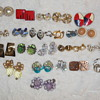 LOT OF EARRINGS FROM VINTAGE TO NOW, Clip on, Screw On and Pierced, some signed  Lisner, Marvells, Coro, Hobe, Monet and 1 Sa