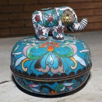 Ardleigh-Elliott Cloisonne Elephant Music Box