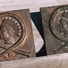 1930's Conn. Firefighters Indian Bronze Plaques