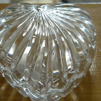 Crystal Hand cut Heart - Glassware