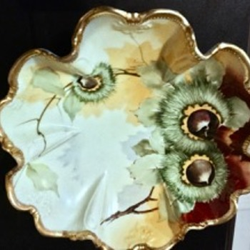 Nippon Morimura Fluted and Footed Bowl - China and Dinnerware