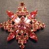 Kramer NY star snowflake brooch