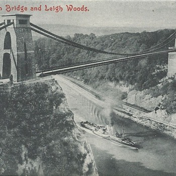 CLIFTON BRIDGE AND LEIGH WOODS. - Postcards
