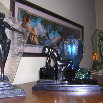 Maxfield Parish, Art Deco, and Fenton Glass - Posters and Prints