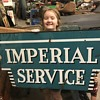 1950's Porcelain Chrysler Imperial Service sign.