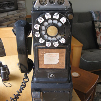 WESTERN ELECTRIC PAYPHONE mod #223G from 1960's - Telephones