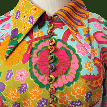 1960s Psychedelic Dress with Toby Tanner by Marjorie Lord label - Womens Clothing