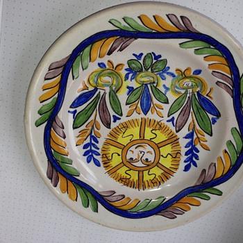 Italian Delft Plate GM - Pottery
