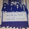 """Original Beatles, """"Give Peace A Chance"""" Anti Vietnam War Protest Poster. UC Berkeley student made in 1970"""