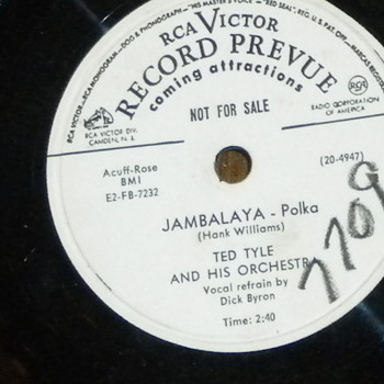 Radio Station Only 78 RPM'S - Records
