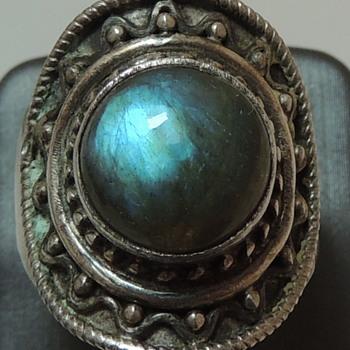 Sterling Silver & Labradorite - Women's Ring - Fine Jewelry