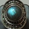 Sterling Silver & Labradorite - Women's Ring
