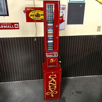 U-Select-It 5 cents  candy vending machine  - Advertising